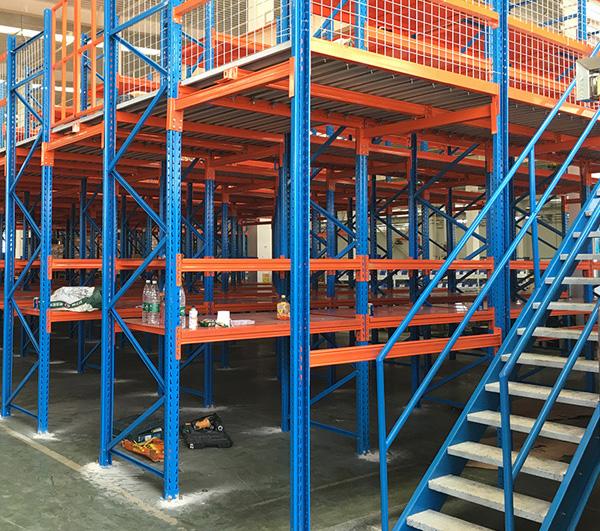 倉儲貨架增加滑梯的效果